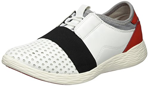 23722 197 white Blanc Comb Sneakers Femme Basses Tamaris 1qwdxg1