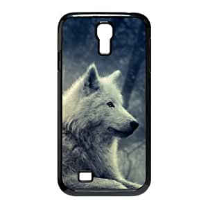 Diy Wolf Howling Phone Case for samsung galaxy s4 Black Shell Phone JFLIFE(TM) [Pattern-2]