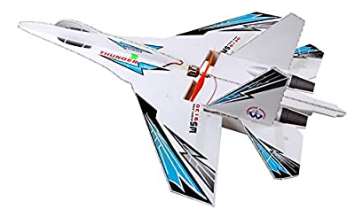 DESALEN 6 Channel DIY kt foam RC Airplanes Remote Control Fighter Jet 4CH rc Plane Aeromodelling Glider Model Airplanes Toy Avion Model Aircraft SU-27 (SWAT)