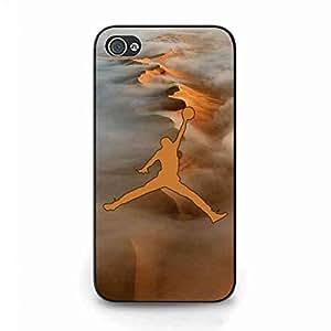 Fashion Brand Jordan Logo Phone Funda Fit iPhone 4/iPhone 4S Hard Funda