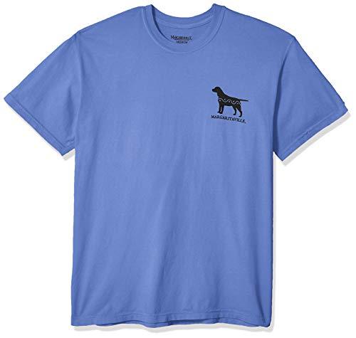 Margaritaville Men's Good Boy Graphic Short Sleeve T-Shirt, Mystic Blue, Medium ()
