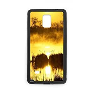 Samsung Galaxy Note 4 Cases Sunset 21 for Men, Phone Case for Samsung Galaxy Note 4 Phone for Men [Black]