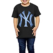 Little Girls' New York Yankees Black Pond Logo 2-6 Toddler T-Shirt