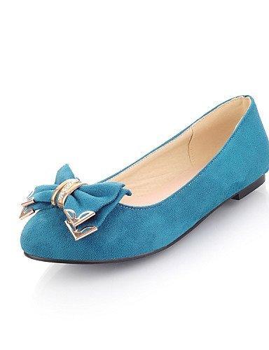 Punta Blu pelle Donna Piatto arrotondata Scarpe Finta Ballerine Casual Viola ShangYi Blue Verde gzIxOf