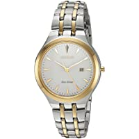 Citizen Women's 'Eco-Drive' Quartz Stainless Steel Casual Watch, Color Two Tone (Model: EW2494-54A)