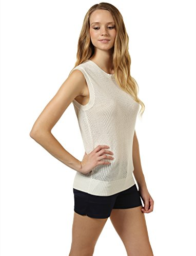 Mossimo Women's Open-Knit Sweater Vest M White by 7 Encounter (Image #2)