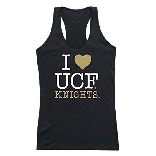UCF University Central Florida NCAA Women's I Love Tank Top t Shirt, Black, Small