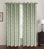 oval window treatments - Kashi Home Celine Collection Window Treatment / Curtain / Panel 54