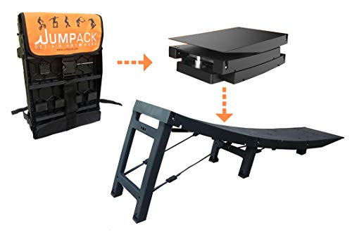 Jumpack - The Portable Fold-up Launch Ramp for BMX, Skateboard, MTB, Scooter, Rollerblade & Snowboard - Folds up into Custom Backpack for Transportation (Ramp Skateboard)