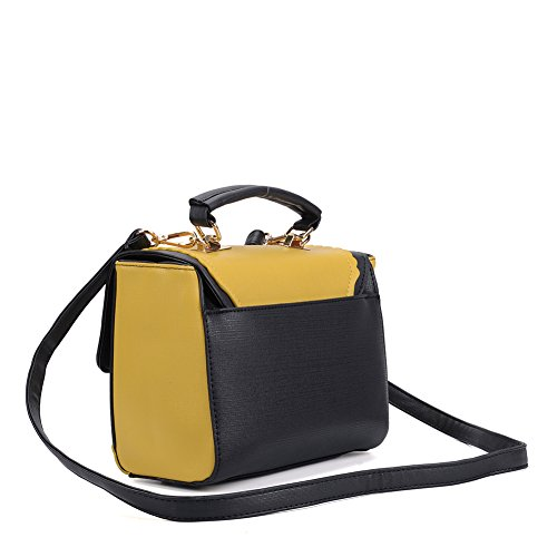 Functional Messenger Quality Lovely Color Bag YOUNG SALLY Yellow And Spacious Contrast PU Leather Bag Cross High Body wE8nnHqz