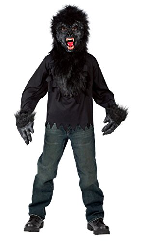 Gorilla Mask Gloves Shirt 7-10 Costume (Plush Gorilla Mask)