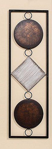 65 cm di altezza Parete-oggetto in metallo marrone//beige decorazione murale