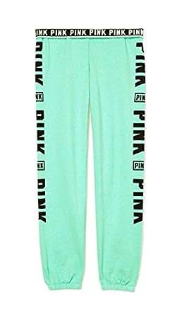 Victoria's Secret PINK Mint Green Leg Graphic Skinny Pant (M)