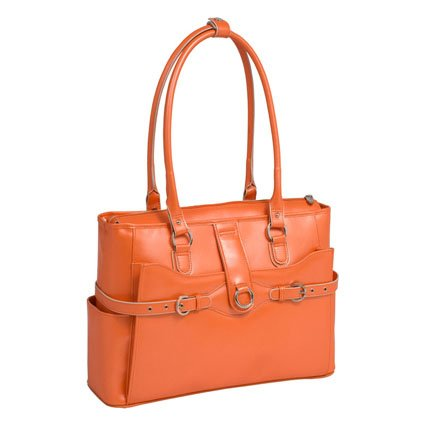 McKleinUSA WILLOW SPRINGS 96560 Orange Leather Ladies' Briefcase, Bags Central