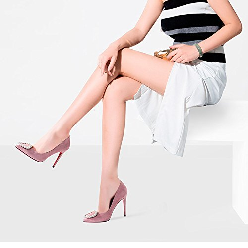 E A con Scarpe Alti Scarpe Rosa 36 Dimensioni Pelle Primaverili Tacchi JIANXIN da Semplice Punta Singole Colore Estive Donna con ed vaWy4g7W