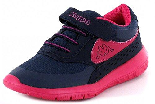 Kappa MILLA Unisex-Kinder Sneakers Blau (6722 navy/pink)
