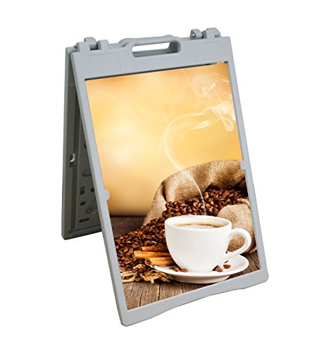 Fixture Displays A Frame Plastic Foldable Indoor Outdoor Sandwich Board Pavement Sign W/ 2 24.3x34.6 Blank Inserts 15963! by FixtureDisplays