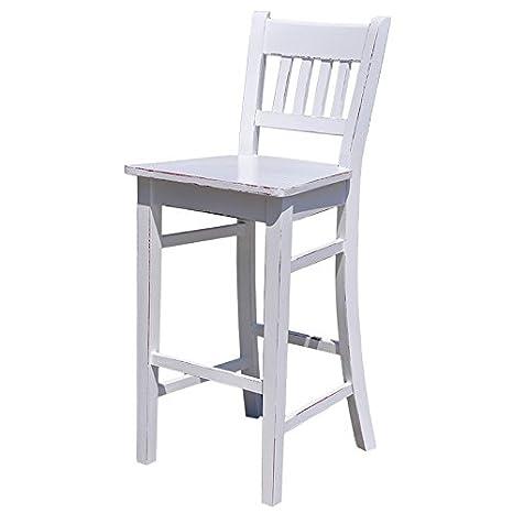 Casa Padrino silla de la barra de madera maciza - elegantes ...