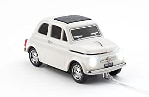 Click Car Mouse Fiat 500 - Ratón (USB, Oficina, PC, Color blanco, Windows XP Home, Windows XP Professional)