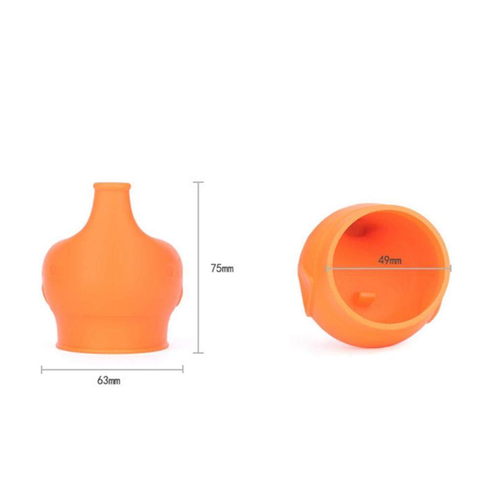 Convient /À La Plupart des Gobelets Et des Verres Silicone de qualit/é Alimentaire Seasaleshop Couvercle de gobelet en Silicone pour b/éb/és Forme t/ête d/'/él/éphant