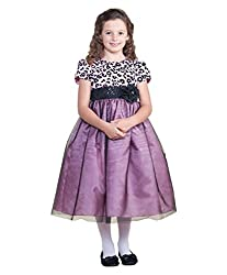 AkiDress Short Sleeve Tulle Flower Girl Dress with Sequin Sash For Big Girl Pink 2-10