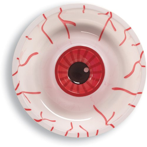 Plastic Chip and Dip Tray, Halloween Eyeball -
