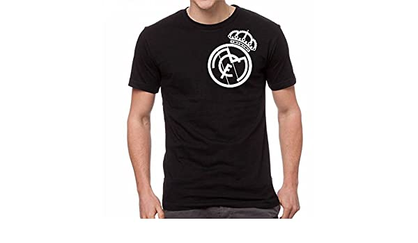 M&O Real Madrid Camiseta Tee Black Custom T Shirt Camiseta Jersey Soccer Futbol (XL) at Amazon Mens Clothing store: