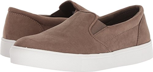 MIA Womens Cori Slip On Faux Suede Fashion Sneakers (10 M US, Taupe)