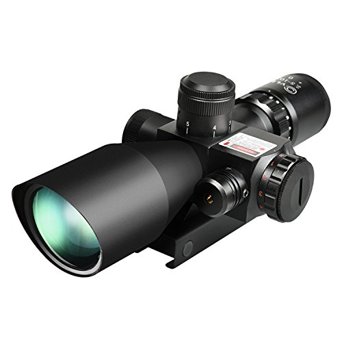 CVLIFE 2.5-10x40e Red & Green Illuminated Scope with 20mm & 11mm Mount