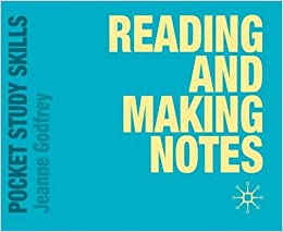 Reading and Making Notes (Pocket Study Skills): Amazon co uk