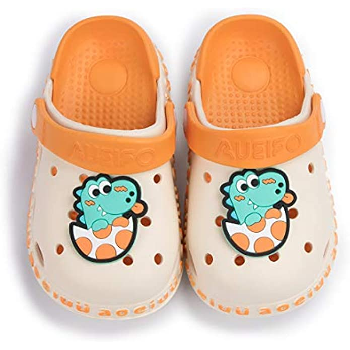 Sawimlgy US Toddler Kids Boys Girls Cute Garden Clogs Cartoon Slipper Sandals Comfort Slip On Water Shoes with Strap Light Summer Children Beach Shoes for Pool Play (Toddler/Little Kids)