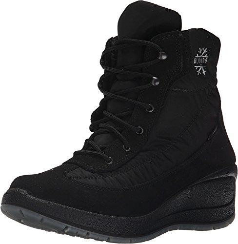 Blondo Womens Talia Winter Boot Black Nylon/Suede Leather svxQG5