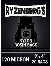 "Rosin Press Bags/Rosin Filters (120 Micron/120u) 2"" x 4"" Inch (20 Pack) By Ryzenberg's …"