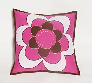 Damask pink chocolate Dec Pillow