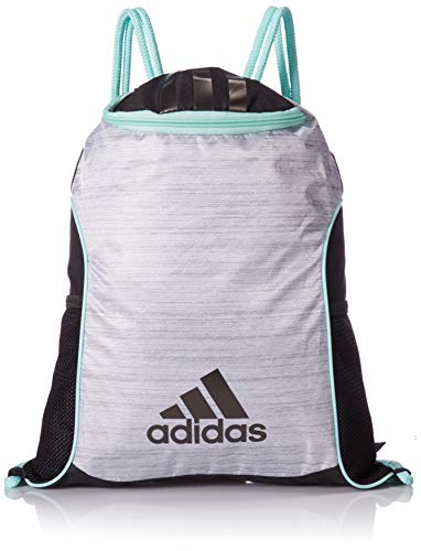 - adidas Team Issue II Sackpack, White Two Tone/Black/Clear Mint, One Size