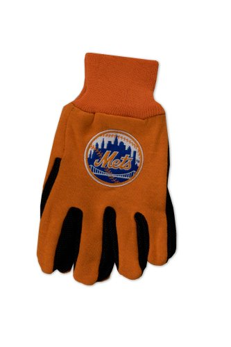 WinCraft MLB New York Mets Two-Tone Gloves, Orange/Black -