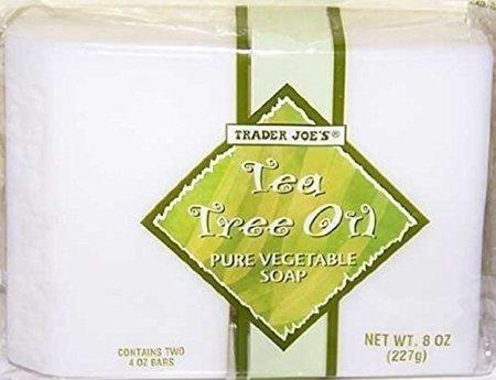 Trader Joe's Tea Tree Oil Soap 2-8 Oz Bars (3 Pack) (Vegetable Soap Oil)