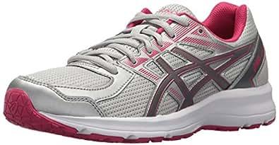 ASICS Women's T7K8N.9697 Jolt Running Shoes, Glacier Grey/Carbon/Bright Rose, 6