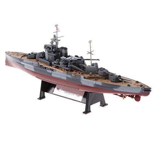 (Homyl 1:1000 Scale WWII HMS Warspite Diecast Ship Boat Army Vehicle Model Collection Toy Showcase Display)