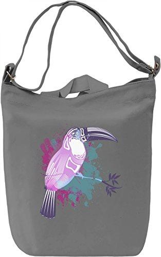 Splashing Toucan Borsa Giornaliera Canvas Canvas Day Bag  100% Premium Cotton Canvas  DTG Printing 