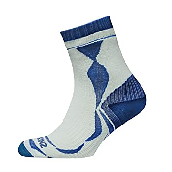 Calcetines Sealskinz Thin Ankle Unisex Color Blanco/Azul Talla XL 47 – 49