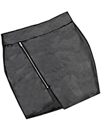 Women Zipper Leather Package Hip Mini Skirt