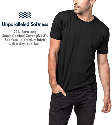 Premium –cotone T Soffice M05 E Maglietta 2 Nero Maniche Girocollo Da Els Slim Uomo Pacco Corte shirt Fit Lapasa Flessibile 8PYq5f