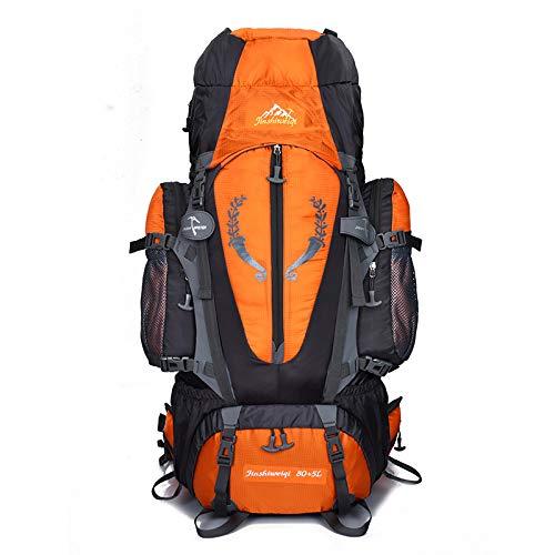Orange B 85 liters ZSBB Sacs à Dos de Sacs d'alpinisme en Plein air pour Hommes et Femmes, Sac à Dos de Grande capacité, randonnée en Tente de Camping, Sac extérieur étanche DE 85 litres