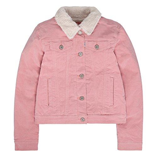 Levi's Girls Denim Trucker Jackets,Blush,L