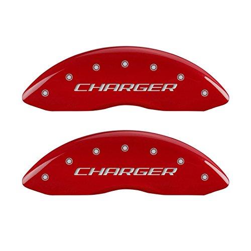MGP Caliper Covers 12162SCHBRD Caliper Cover with Red Powder Coat Finish, (Set of 4) (Best Caliper Paint 2019)