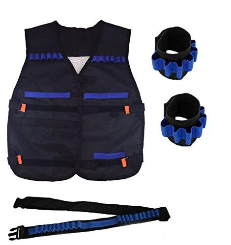 EKIND-Nerf-War-Tactical-Rifle-Stock-Dart-Equipment-Set-for-Nerf-N-strike-Elite-Series-Blasters-Toy-Gun-1-Bandolier-2-Wrister-1-Vest