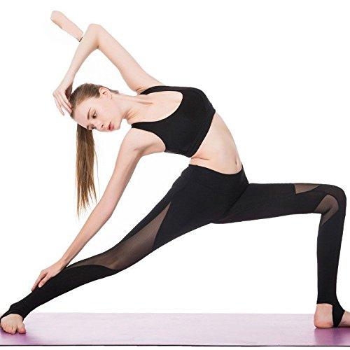 MAYUAN520 Yoga Hose Frauen sexy Mesh Patchwork Sport Bekleidung Running Sport Leggings Leggings Fitness Strumpfhose schlank Sport Hosen Sportswear