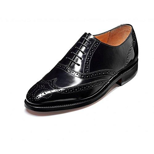 Barker Albert Noir Hi-Shine Chaussures richelieu en cuir à lacets