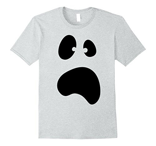 Cheerleader Jock Costume - Mens Funny Halloween Ghost Face Costume Tshirt - For Halloween 2XL Heather Grey